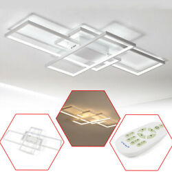 Modern style acrylic LED ceiling light square living room lighting chandelier+RC