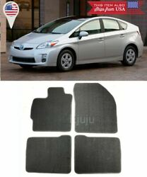 4 Pcs Set Black Trim Front Rear Nylon Carpets Floor Mats For 10 15 Toyota Prius $39.99