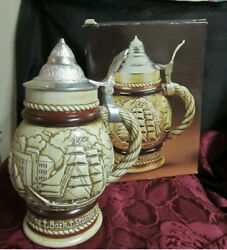 Vintage 1977 AVON Tall Ships Ceramic Stein Mens Cologne Container NO COLOGNE B6 $17.99