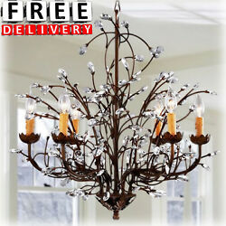 Dining Chandeliers 6 Light Crystal Lighting Bedroom Antique Modern Contemporary $256.64