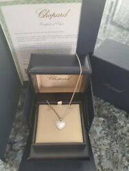 New Chopard Happy Diamond Pendant Ladies Necklace 794516-1001 Retail $8430.00!