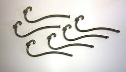 LOT OF 6 New unfinished Bass TUBE chandelier arms OLD STOCK 8 3 4quot; long $36.00