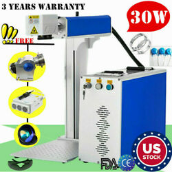 US 30W Split Fiber Laser Marking Machine Engraving Engraver Machine Raycus laser $4007.37