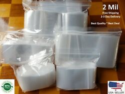 Clear Reclosable Zip Top Poly Plastic 2 Mil Bags Jewelry Zipper Lock Baggies $19.50