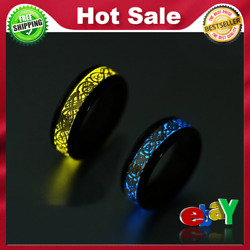 Glo Ring Luminous Dragon Rings Stainless Steel Fashion Jewelry Glow In The Dark $14.93