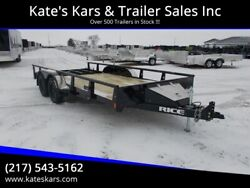 2020 Rice Trailers 16' Utility Trailer 82X16' Utility w Tool Box LED Lighting Pi