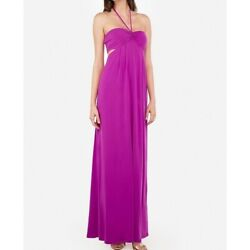 Express Halter Neck Cut Out Maxi Dress XS NEW $98.00