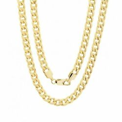 10K Solid Yellow Gold Cuban Link Chain Necklace 16quot; 30quot; Men#x27;s Women 1.5mm $109.99