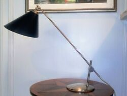 Mid-century Modern Th. Valentiner metal desk lamp. A rare find Danish design