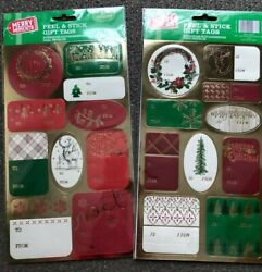 50 Peel amp; Stick Merry Christmas Classy Gift Tags New FREE SHIPPING Noel Joy Tree $2.95