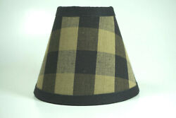 Country Black Buffalo Check Fabric Chandelier Candle Lampshade Lamp Shade $15.99
