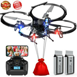DBPOWER Drone U818A FPV Drones with 720P WI FI Camera RC Quadcotper TS06 $55.99