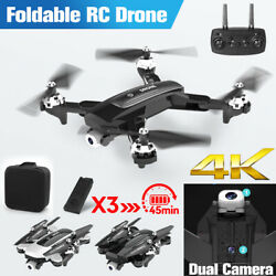 Drone X Pro Aircraft Wifi FPV GPS 1080P HD Camera Foldable 6-axis RC Quadcopter $33.99