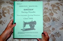 Service Manual Plus Special Addendum for Singer 206 206k Sewing Machines $19.79