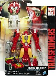 TRANSFORMERS GENERATIONS TITANS RETURN DELUXE HOT ROD FIREDRIVE ACTION FIGURE $29.95