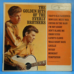 GOLDEN HITS OF THE EVERLY BROTHERS LP 1962 MONO GREAT CONDITION! VG++VG+!!C $12.99