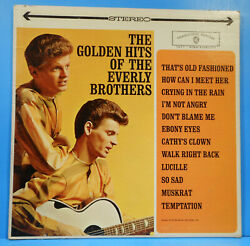 GOLDEN HITS OF THE EVERLY BROTHERS '62 STEREO ORIGINAL NICE CONDITION! VGVG+!!D $9.99