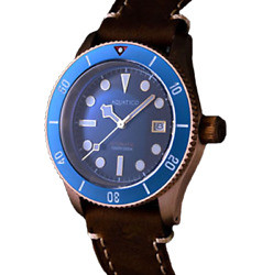 ✅ AQUATICO BRONZE SEA STAR BLUE DIAL DIVER 300M INTERNATIONAL SHIPPING US DEALER $309.00