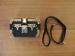 BRAND NEW Trunk Crossbody Bag (with Straps) High Quality! Black Gold and Red $45.00