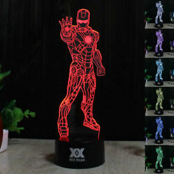 Ironman 3D LED Night Light Touch Table Desk Lamp Brithday Gift 7 Color Change $12.99
