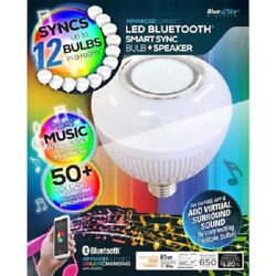 Blue Sky Color Changing Bulb w Built In Bluetooth Speaker Sync up to 12 65 Wa $23.88