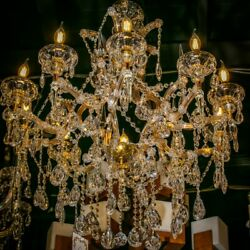 Maria Theresa Chandelier Crystal Chandelier  Gold Chandelier French design  $930.00