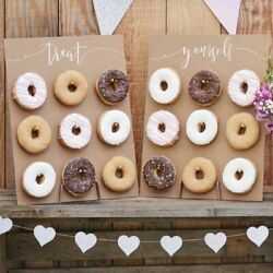 Rustic Double Donut Wall for Baby Showers Bridal Shower Wedding Ginger Ray $29.50