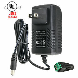 UL Listed 12V 3A 36W AC Adapter Power Supply for Camera LED Light Strip $8.99