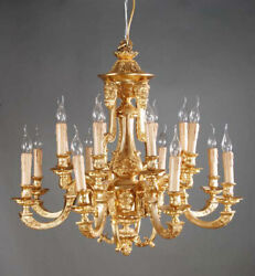 Classy French Chandelier in Louis Seize Style