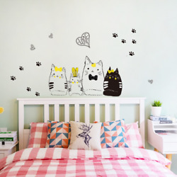 Cat#x27;s Fairy Tale Wall Stickers Decoration For Kids Rooms Girls Home Decor DIY $16.50