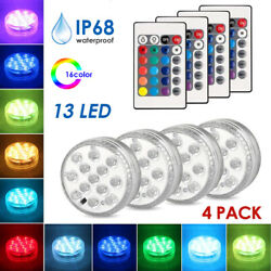 Submersible LED RGB Light Underwater Swimming Pool Spa Lamp Landscape IR Control $16.49