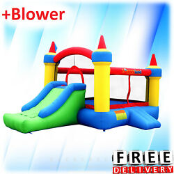 Inflatable Bounce House Slide Bouncer Blower Yard Outdoor Kid Fun Playground