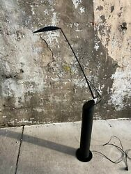 Vintage Black Mario Barbaglia Italian Dove Reading Swivel Floor Modern Lamp $950.00