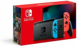 New Version Nintendo Switch 32 GB Console Neon Blue Red Joy Con HAC 001 $369.99