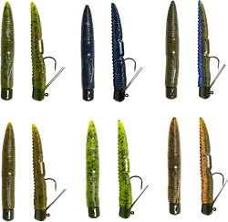 Lunkerhunt Pre Rigged Finesse Worm 3 inch Ned Rig Stickbait Bass Finesse Bait $4.39