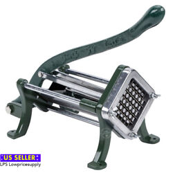 1 4quot; Green Countertop Cast Iron French Fry Cutter Potato Straight Cutter Slicer $52.90