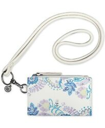 The Sak Women's Silverlake Id Lanyard Card Case - Stone Flowing Floral NWT $19.49