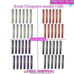 Krest Cleopatra 420. 7 Inch Hair Cutting Combs Barber's & Hairstylist Comb. 1 dz $12.99
