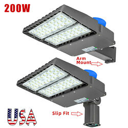 Outdoor LED Parking Lot Light Street Pole Fixture Dusk to Dawn Commercial (200W) $119.00