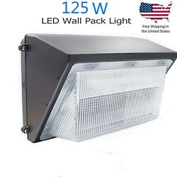 125W Outdoor LED Commercial Lighting Wall Pack IP65 with Photocell Dusk to Dawn