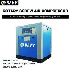 7.5Hp 3Phase Rotary Screw Air Compressor 29cfm 125PSI 230V60HZ Air Oil Filter