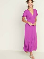 NWT: old navy Waist Defined Cross Front Jersey Maxi for Women MT $45 $20.00