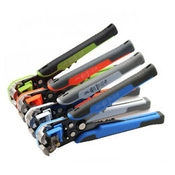 Multifunctional Cable Wire Stripper Cutter Crimper Plier Automatic Crimping Tool $19.99
