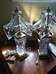 COFRAC ART VERRIER CRYSTAL FRENCH LAMPS $1200.00