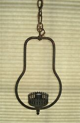 Vintage Copper Electric Oil Lamp Style Hanger Frame...with Chain $15.00