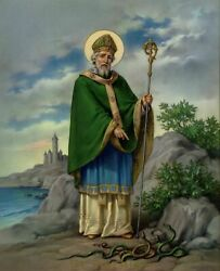 Catholic  print picture SAINT ST. PATRICK  8