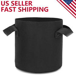 6 Pack Grow Bags Garden Heavy Duty Non Woven Aeration Plant Fabric Pot Container $17.99