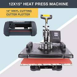 Heat Press Machine 12x15 14 Vinyl Cutter Plotter Business Printer Sublimation $353.99