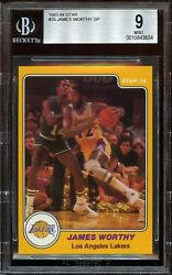 1983-1984 Star James Worthy Short Print ROOKIE RC #25 BGS 9 MINT. L.A. Lakers $207.00