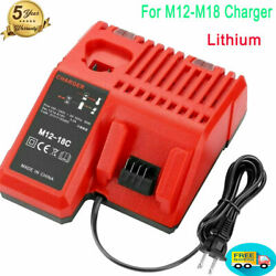 Charger Fit For Milwaukee M18 M14 M12 Lithium Battery Multi-Voltage 48-59-1812 $26.59